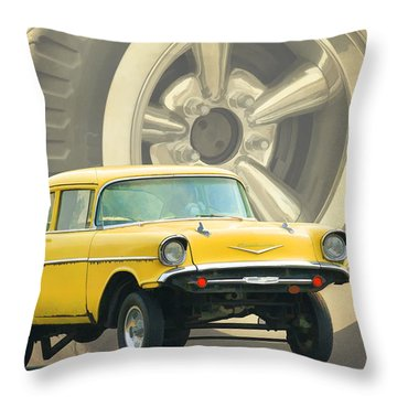 57 Gasser Throw Pillow by Steve McKinzie