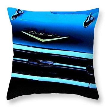 Throw Pillow featuring the photograph 57 Memories by Greg Moores