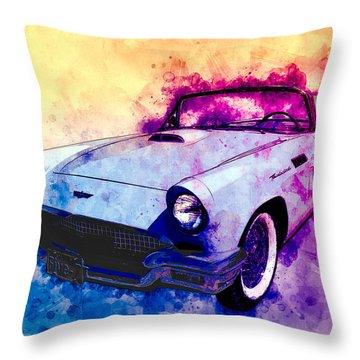 57 Thunderbird Watercolour Throw Pillow