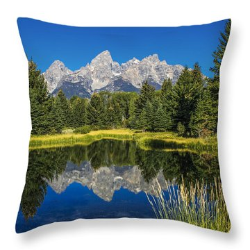 #5700 - Shwabakers Landing, Wyoming Throw Pillow