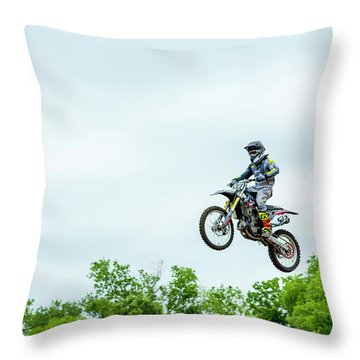 Throw Pillow featuring the photograph 573 Flying High At White Knuckle Ranch by David Morefield