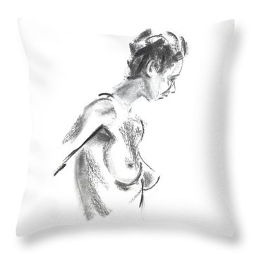 Throw Pillow featuring the drawing Rcnpaintings.com by Chris N Rohrbach