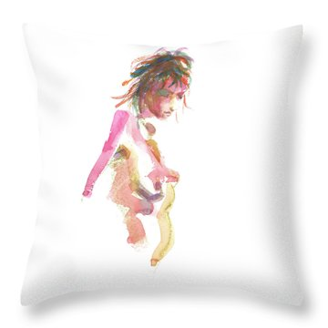 Throw Pillow featuring the painting Rcnpaintings.com by Chris N Rohrbach