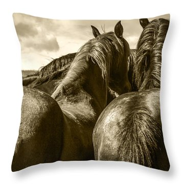#5815 - Mortana Morgan Mares Throw Pillow