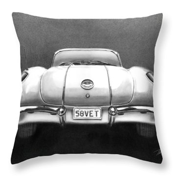 58vet Throw Pillow by Peter Piatt