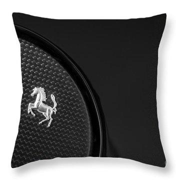 599 Ferrari Gas Cap Abstract Throw Pillow