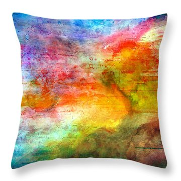 5a Abstract Expressionism Digital Painting Throw Pillow