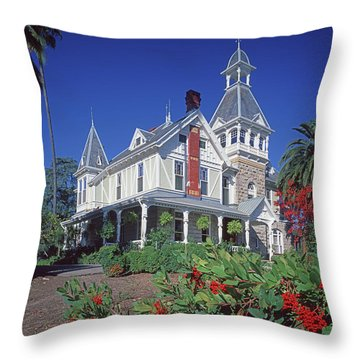 5b6386 Villa Miravalle Spring Mountain Vineyard Falcon Crest Throw Pillow