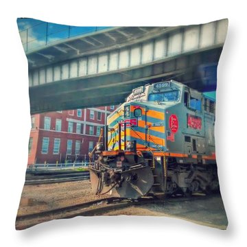 5th Street Bridge Throw Pillow by Dustin Soph