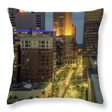 5th Street Cincinnati Throw Pillow by Scott Meyer