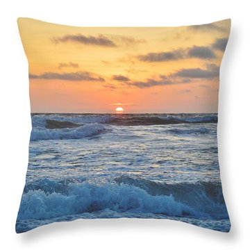 6/26 Obx Sunrise Throw Pillow