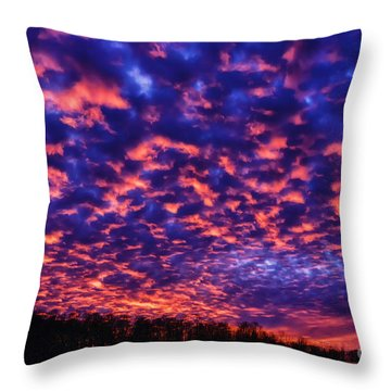 Throw Pillow featuring the photograph Appalachian Sunset Afterglow by Thomas R Fletcher