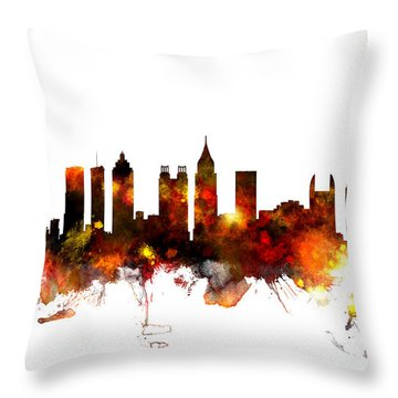 Atlanta Georgia Skyline Throw Pillow