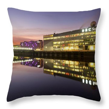Throw Pillow featuring the photograph Bbc Studio's Glasgow by Stephen Taylor