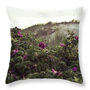 Rose Bush And Dunes Throw Pillow