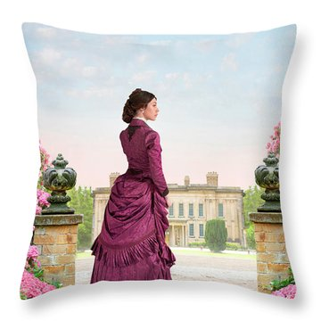 Beautiful Victorian Woman Throw Pillow