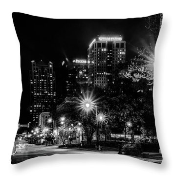 Birmingham Alabama Evening Skyline Throw Pillow