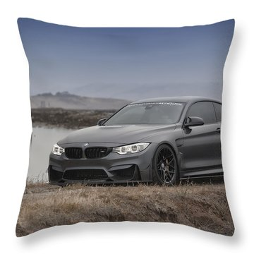 Bmw M4 Throw Pillow