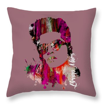 Bruno Mars Collection Throw Pillow