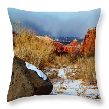 Captiol Reef National Park  Throw Pillow