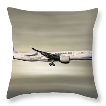 China Airlines Airbus A350-941 Throw Pillow