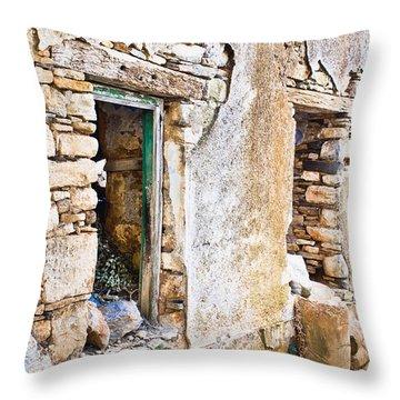 Derelict House Throw Pillow