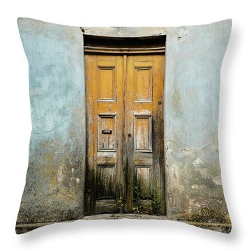 Throw Pillow featuring the photograph Door With No Number by Marco Oliveira