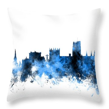 Durham England Skyline Cityscape Throw Pillow