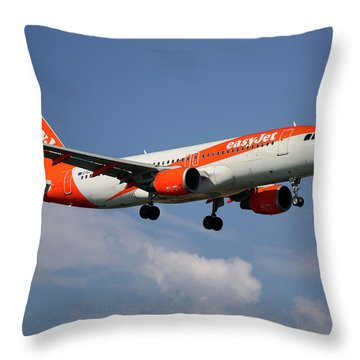 Airbus A319 Throw Pillows