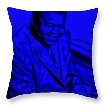 Fats Domino Collection Throw Pillow by Marvin Blaine