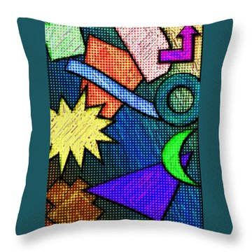 Funky Fanfare Throw Pillow
