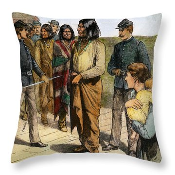 Geronimo 1829-1909.  To License For Professional Use Visit Granger.com Throw Pillow