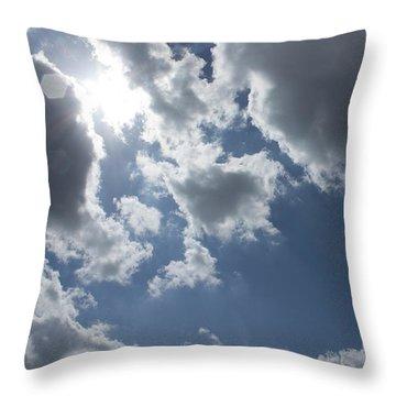Throw Pillow featuring the photograph 6-gon Boken Sky by Megan Dirsa-DuBois