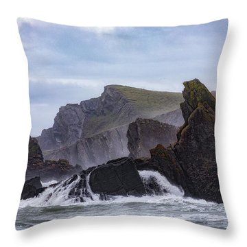 Hartland Quay - England Throw Pillow
