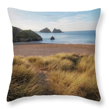 Holywell Bay - Cornwall Throw Pillow