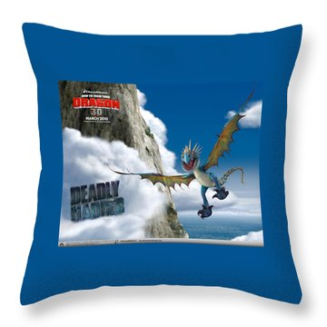 How To Train Your Dragon Throw Pillow