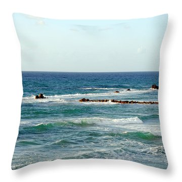 Jaffa Beach 4 Throw Pillow
