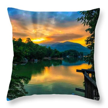 Lake Lure Throw Pillow