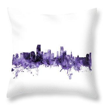 Miami Skyline Throw Pillows