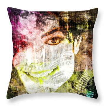 Michael Jackson Throw Pillow by Svelby Art