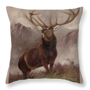 Monarch Of The Glen Throw Pillow