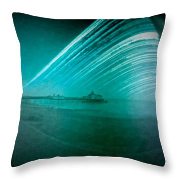 6 Month Exposure Of Eastbourne Pier Throw Pillow