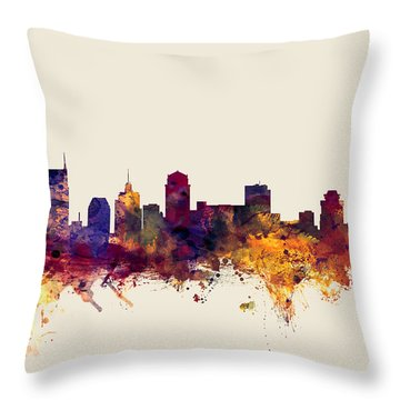 Nashville Tennessee Skyline Throw Pillow by Michael Tompsett