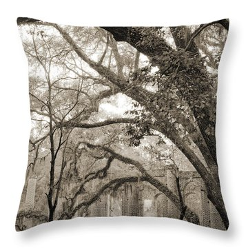 Old Sheldon Church Ruins Throw Pillow by Dustin K Ryan
