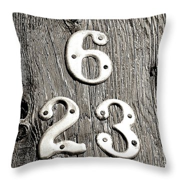 6 Over 23 Throw Pillow