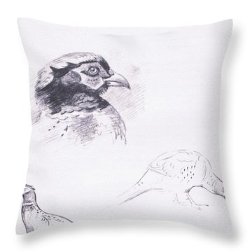 Pheasants Throw Pillow by Archibald Thorburn