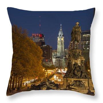Philadelphia Skyline Throw Pillow by John Greim