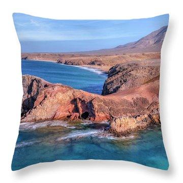 Playa Papagayo - Lanzarote Throw Pillow