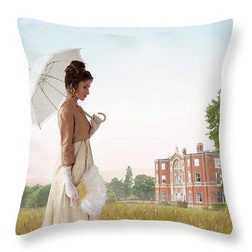 Regency Woman Throw Pillow