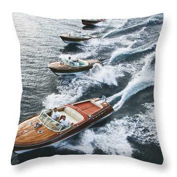 Riva Runabouts Throw Pillow
